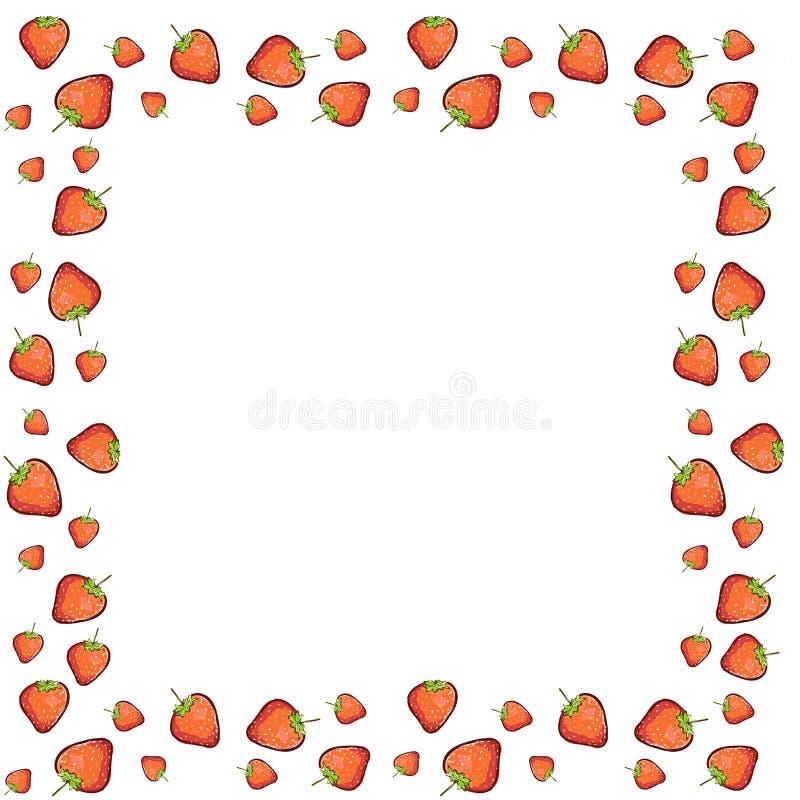 Markiera wektorowego eco menu r?ka rysuj?cy karmowy organicznie cukierniany projekt Rama z naturalnych świeżych jagod wektorową i ilustracja wektor