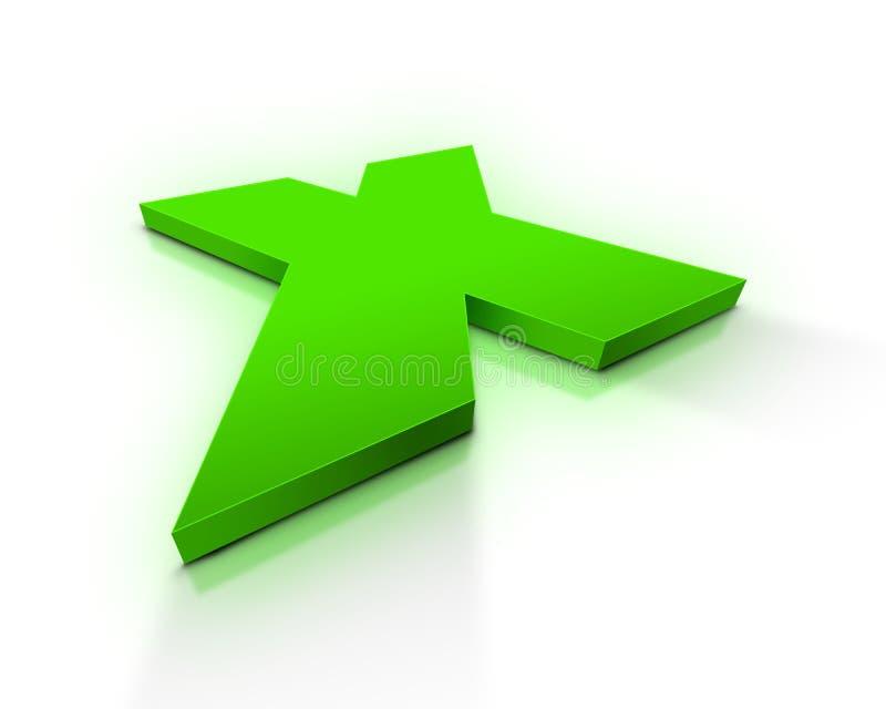 Markierung X stock abbildung