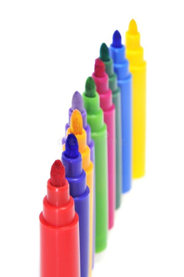 Markierungen der verschiedenen Farben lizenzfreies stockfoto