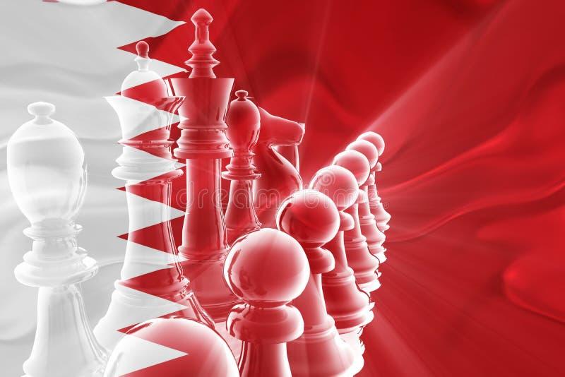 Markierungsfahne Bahrain-der wellenförmigen Geschäftsstrategie lizenzfreie abbildung