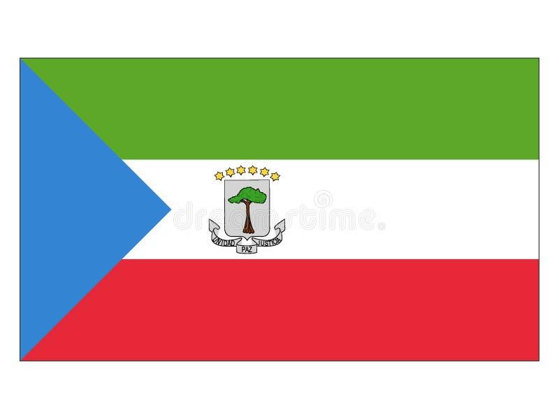 Markierungsfahne der Äquatorialguinea vektor abbildung