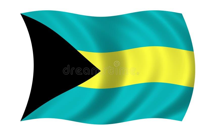 Markierungsfahne der Bahamas lizenzfreie abbildung