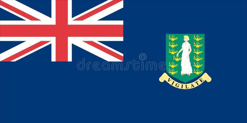 Markierungsfahne der British Virgin Islands vektor abbildung