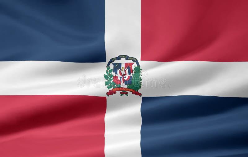 Markierungsfahne der Dominikanischen Republik lizenzfreie abbildung