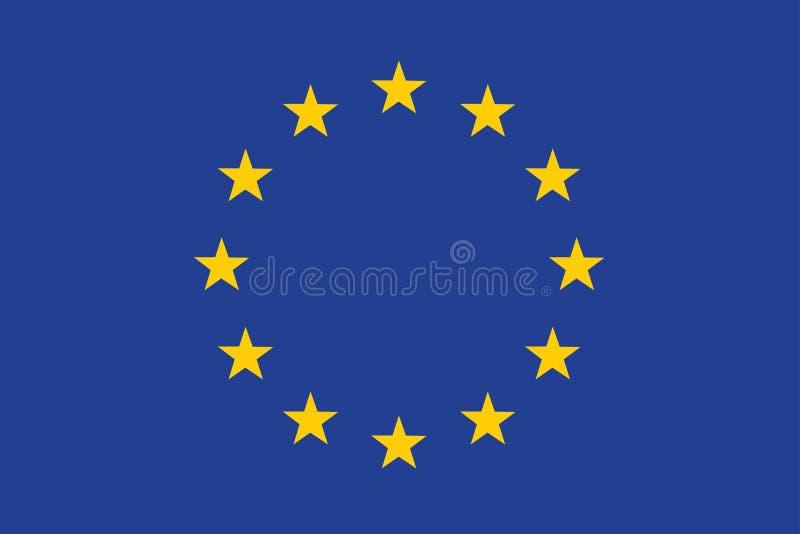 Markierungsfahne der Europäischer Gemeinschaft stock abbildung