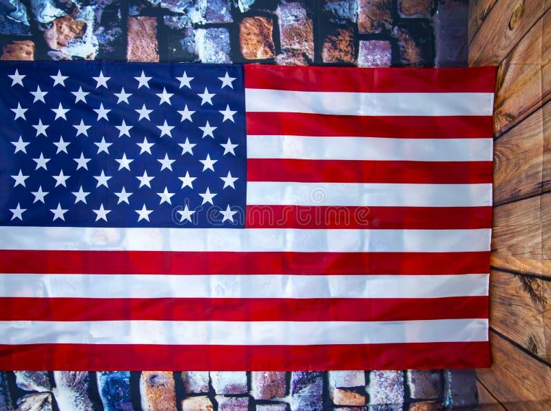 Markierungsfahne der Staaten von Amerika stockbild