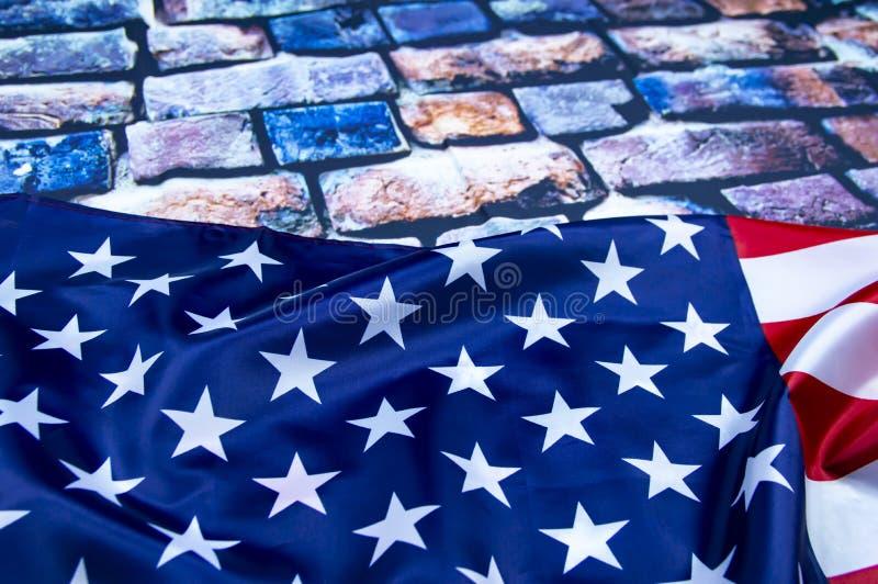 Markierungsfahne der Staaten von Amerika stockbilder