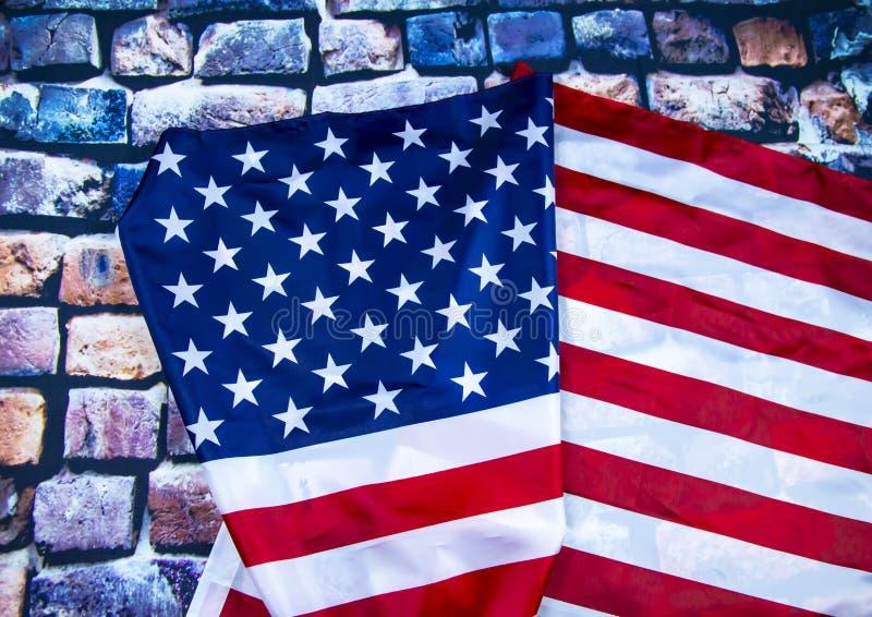 Markierungsfahne der Staaten von Amerika stockfoto