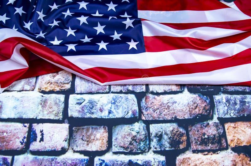 Markierungsfahne der Staaten von Amerika lizenzfreie stockfotos
