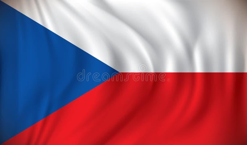 Markierungsfahne der Tschechischen Republik lizenzfreie abbildung