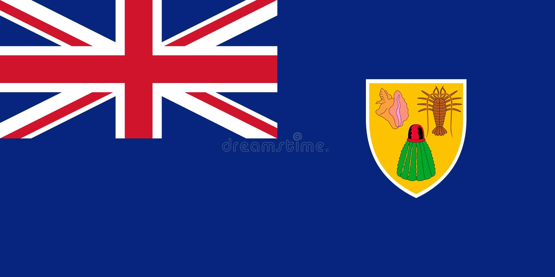 Markierungsfahne der Turks And Caicos Islands Auch im corel abgehobenen Betrag Weltflagge stock abbildung