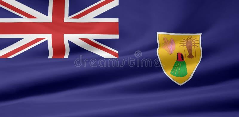 Markierungsfahne der Turks- And Caicos Islandsmarkierungsfahne vektor abbildung