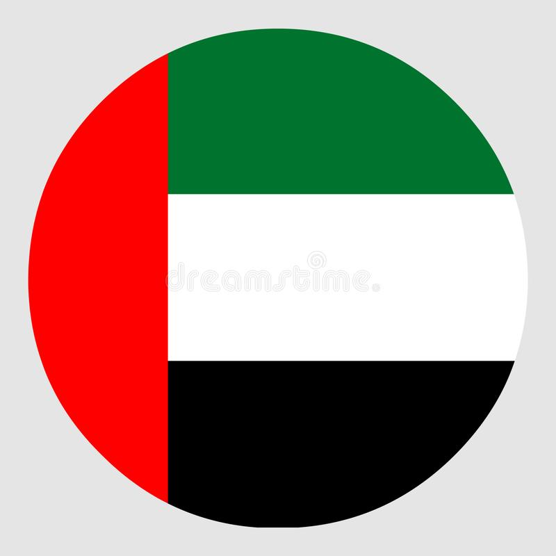 Markierungsfahne der United Arab Emirates lizenzfreie stockfotografie