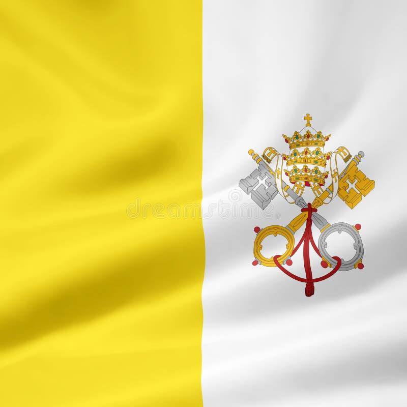 Markierungsfahne der Vatikanstadt stock abbildung