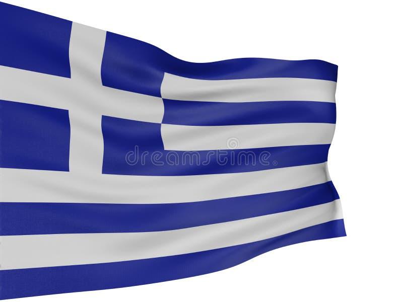 Markierungsfahne des Griechen 3D lizenzfreie abbildung