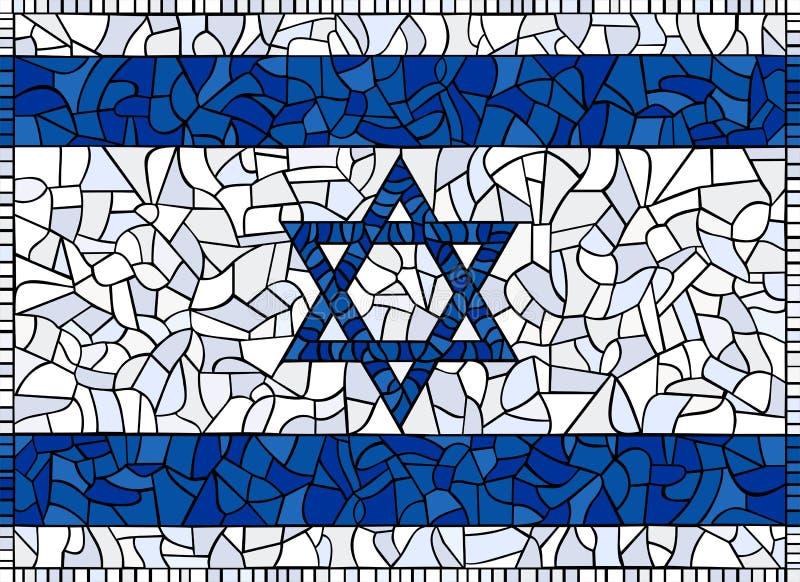 Markierungsfahne des Israel-Buntglases lizenzfreie abbildung