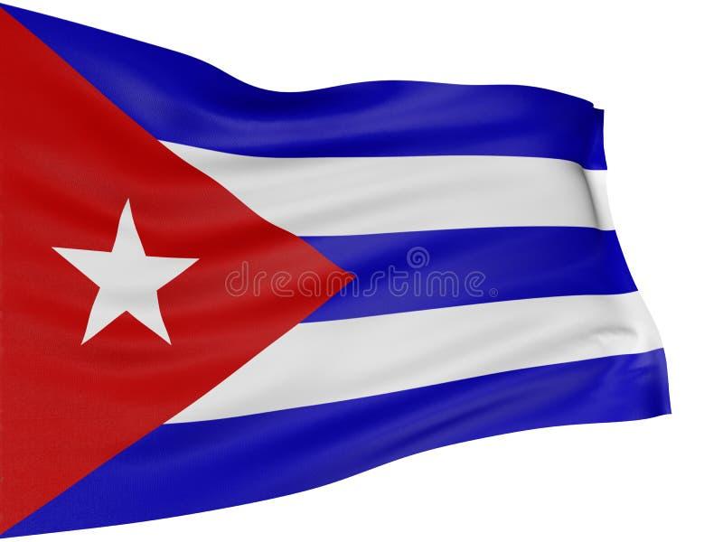 Markierungsfahne des Kubaners 3D lizenzfreie abbildung