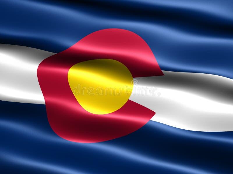 Markierungsfahne des Zustandes von Kolorado stock abbildung