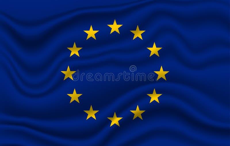 Markierungsfahne EU-Europa stock abbildung