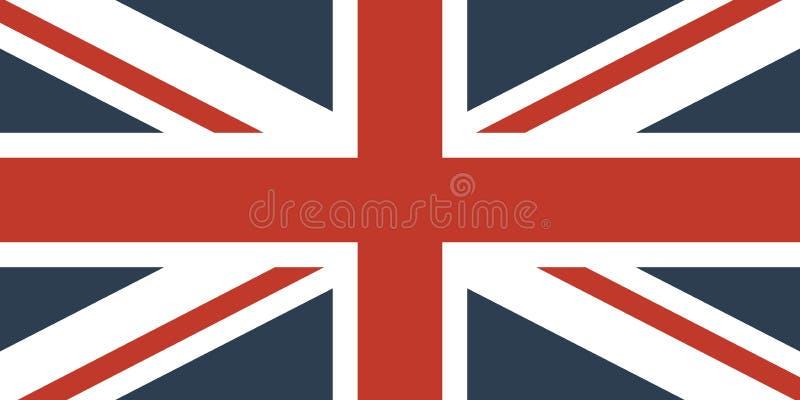 Markierungsfahne Großbritanniens lizenzfreie abbildung
