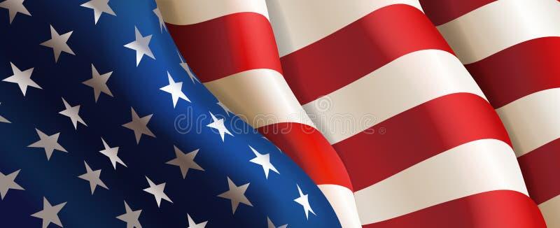 Markierungsfahne Staaten von Amerika Vektor lizenzfreie abbildung