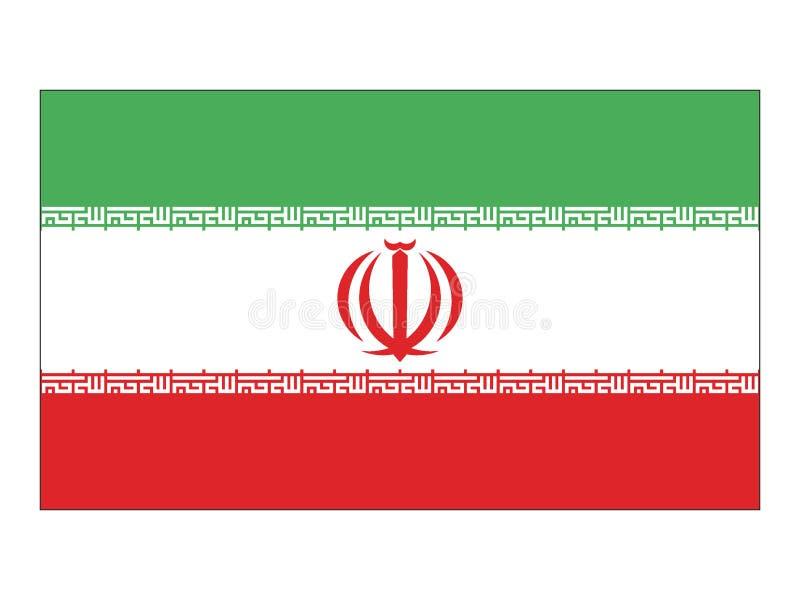 Markierungsfahne vom Iran stock abbildung