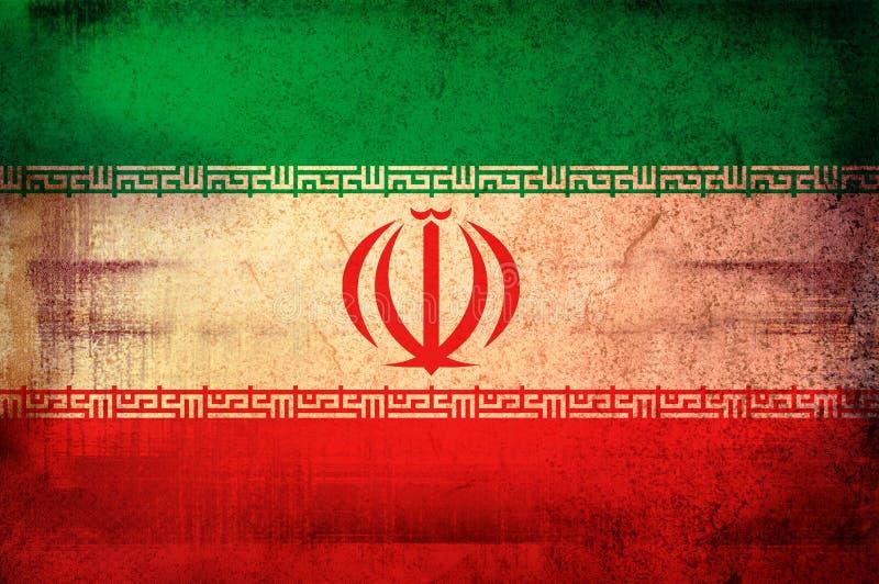Markierungsfahne vom Iran lizenzfreie abbildung