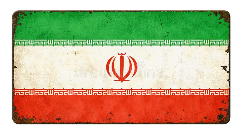 Markierungsfahne vom Iran lizenzfreies stockfoto
