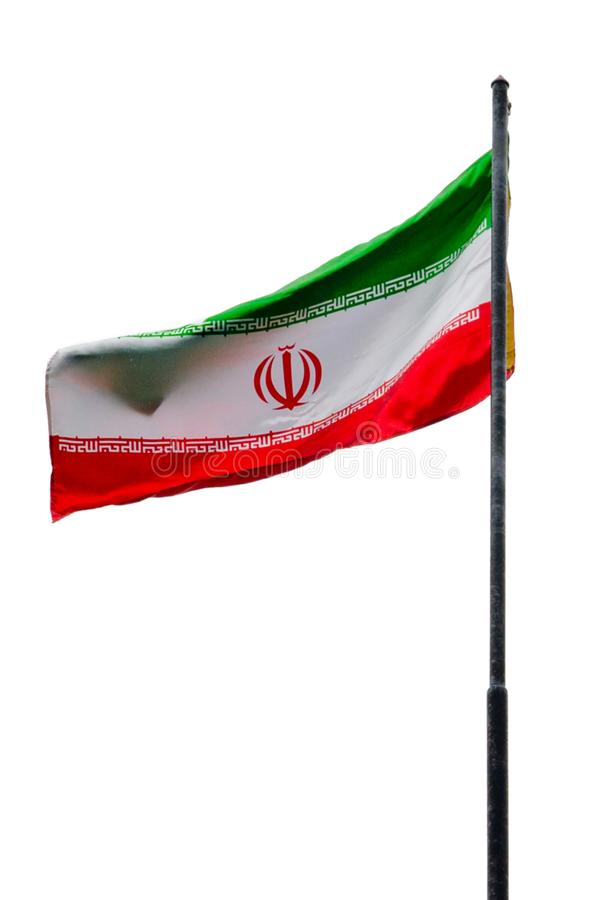 Markierungsfahne vom Iran stockbild