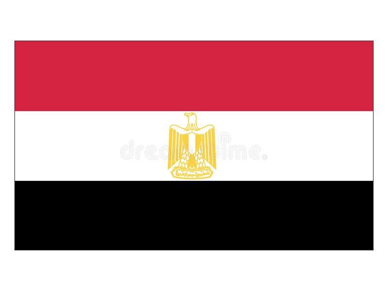 Markierungsfahne von Ägypten lizenzfreie abbildung