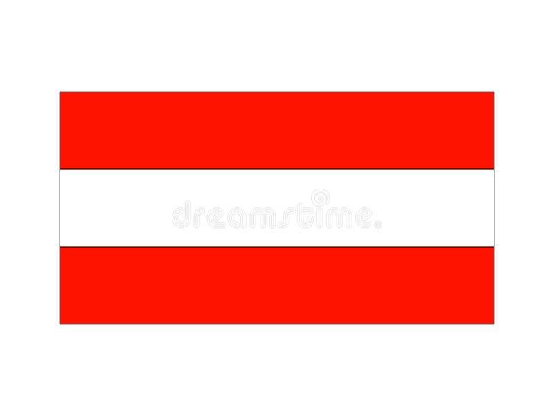 Markierungsfahne von Österreich vektor abbildung