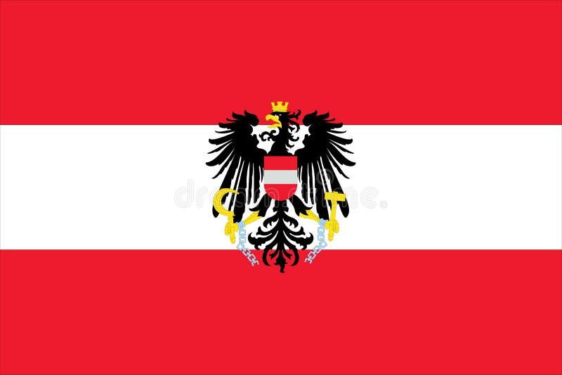 Markierungsfahne von Österreich stock abbildung