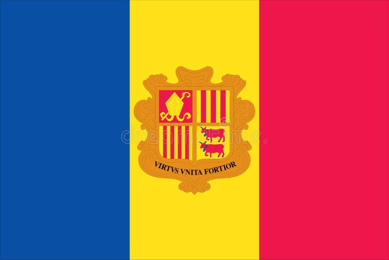 Markierungsfahne von Andorra stock abbildung