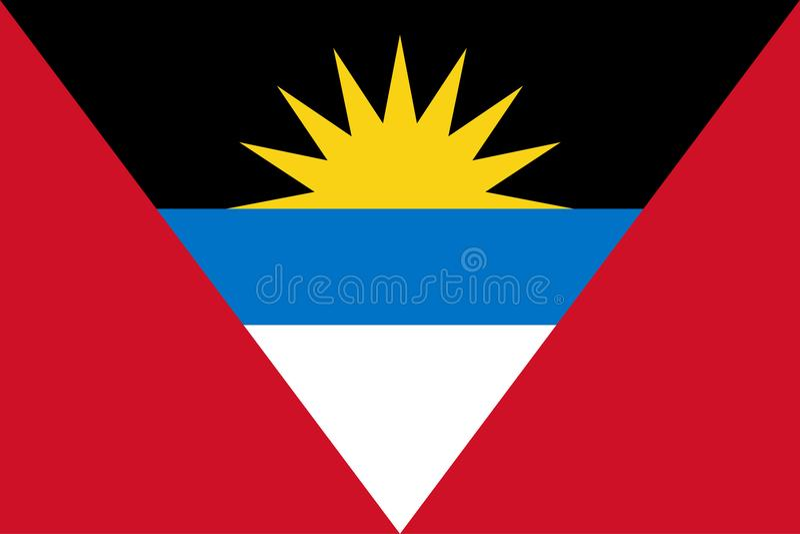 Markierungsfahne von Antigua und von Barbuda lizenzfreie abbildung