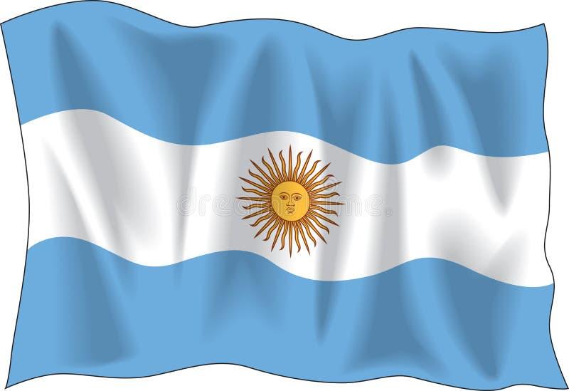 Markierungsfahne von Argentinien vektor abbildung