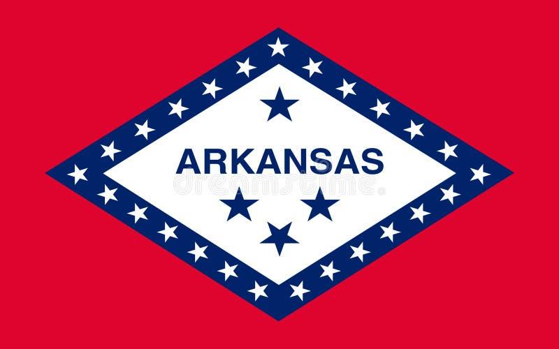 Markierungsfahne von Arkansas, USA stockfotos