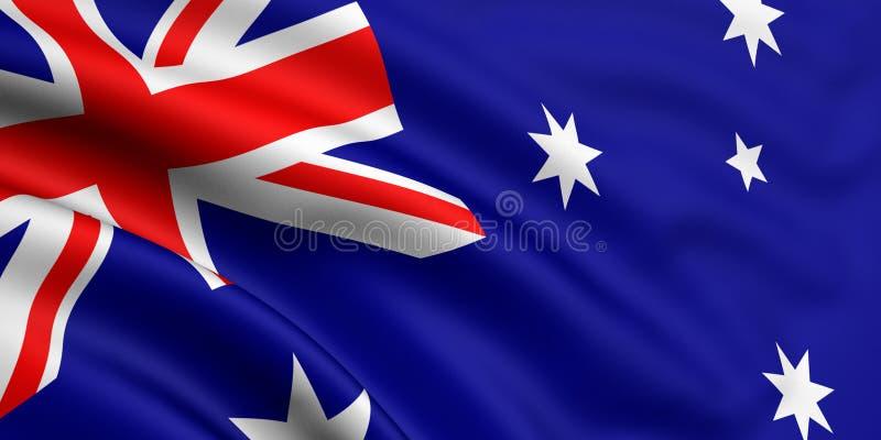 Markierungsfahne von Australien lizenzfreie stockfotos