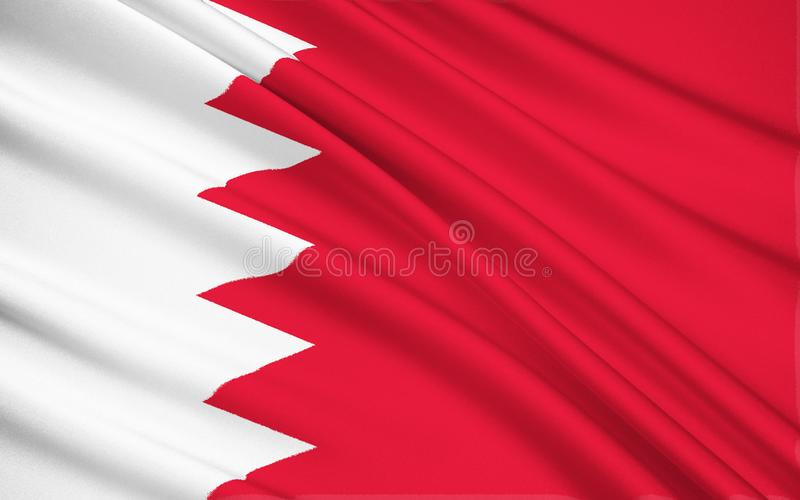 Markierungsfahne von Bahrain stockfotos