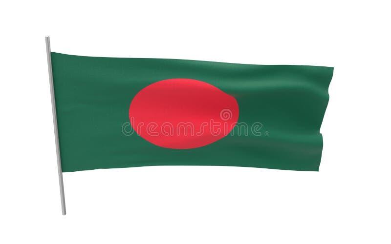 Markierungsfahne von Bangladesh lizenzfreie stockfotografie