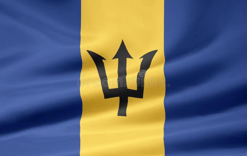 Markierungsfahne von Barbados lizenzfreie abbildung