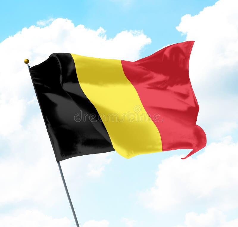Markierungsfahne von Belgien lizenzfreies stockfoto