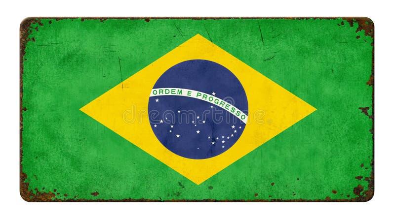 Markierungsfahne von Brasilien stockbild
