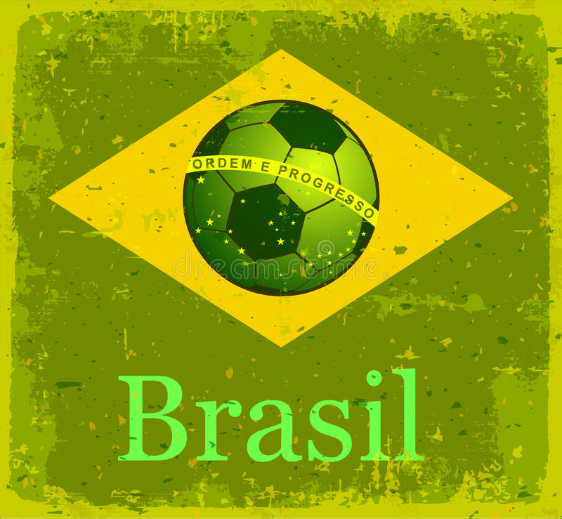 Markierungsfahne von Brasilien Vektor lizenzfreie abbildung