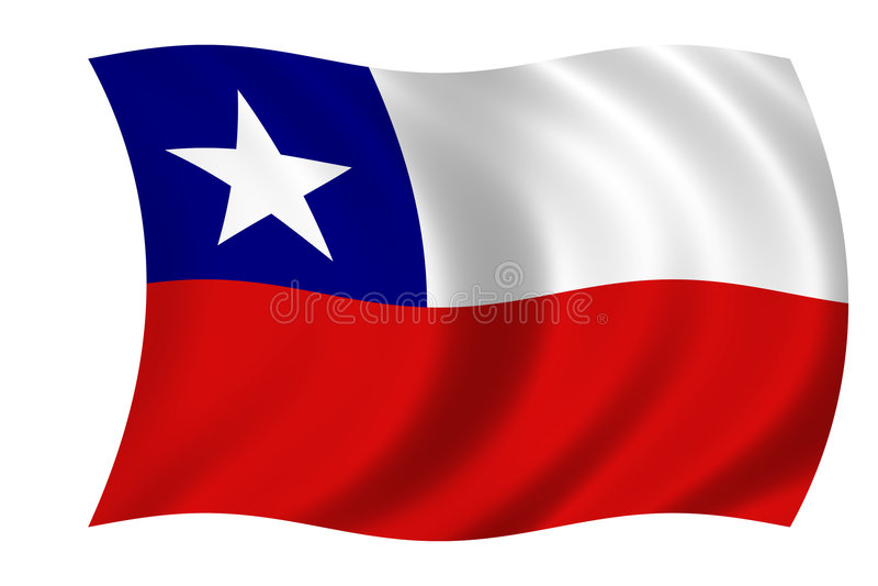 Markierungsfahne von Chile lizenzfreie abbildung