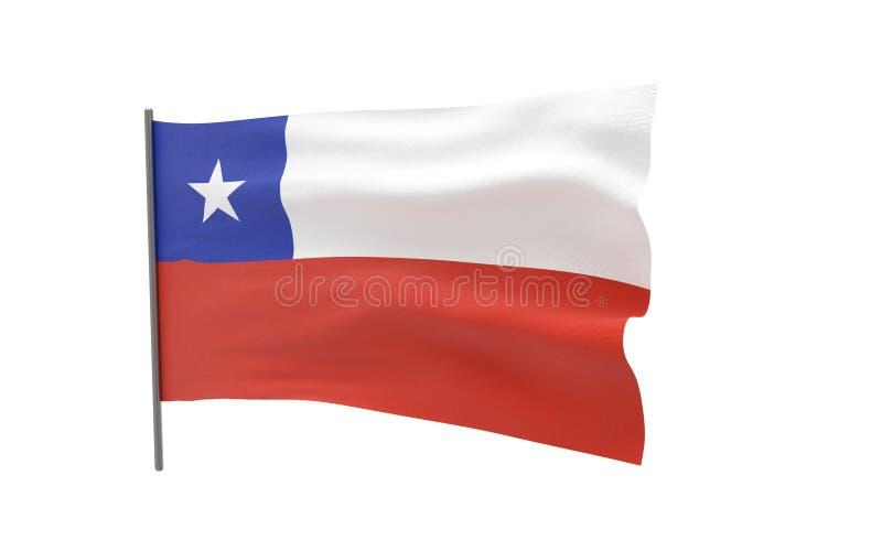 Markierungsfahne von Chile stock abbildung