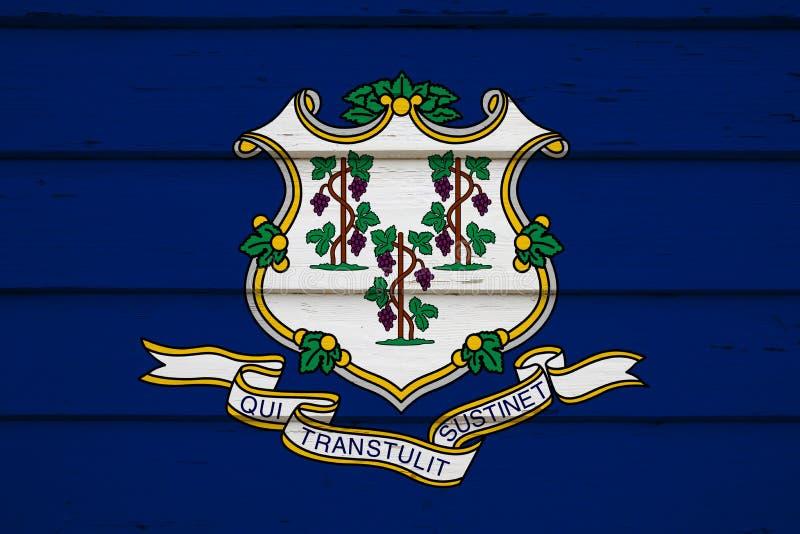 Markierungsfahne von Connecticut stockfoto