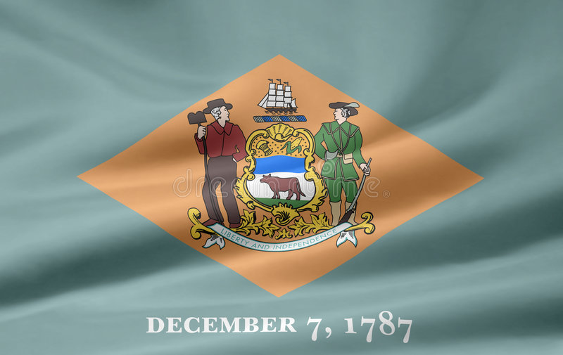 Markierungsfahne von Delaware stock abbildung