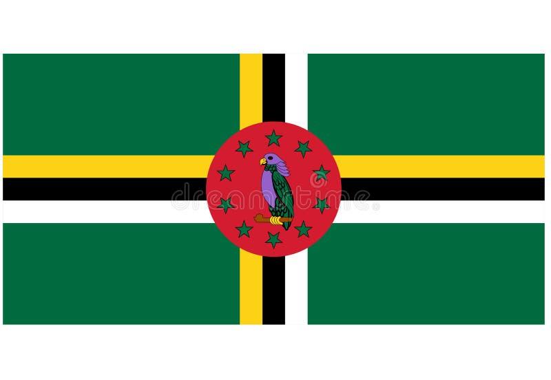 Markierungsfahne von Dominica stock abbildung