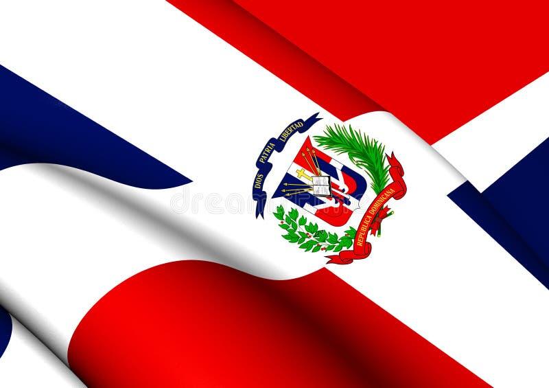 Markierungsfahne von Dominikanischer Republik stock abbildung