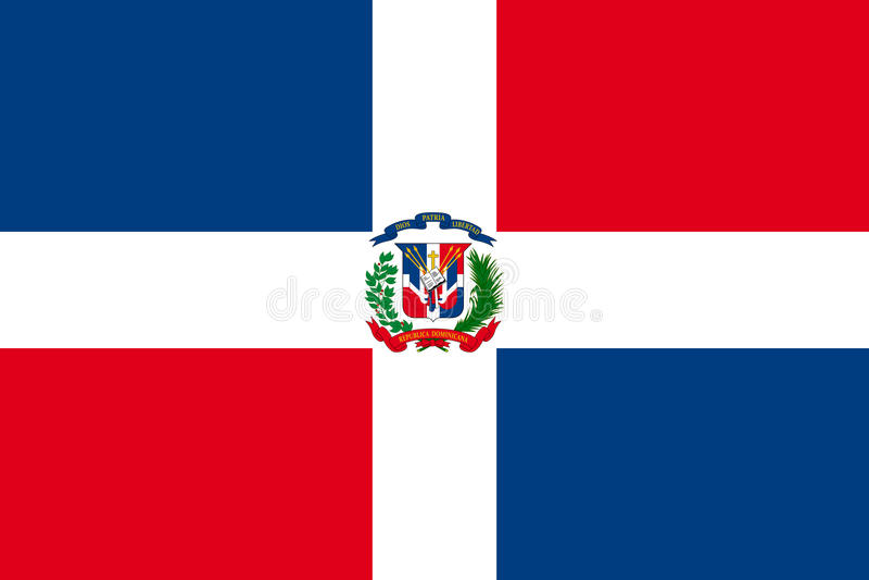 Markierungsfahne von Dominikanischer Republik lizenzfreie abbildung